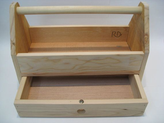 Unique Wood Tool Box Tool Tote Handmade from a Wood Crate by Recovered Design This