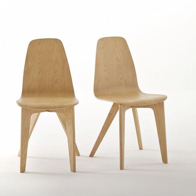 chaises coque design biface lot de 2 la redoute. Black Bedroom Furniture Sets. Home Design Ideas