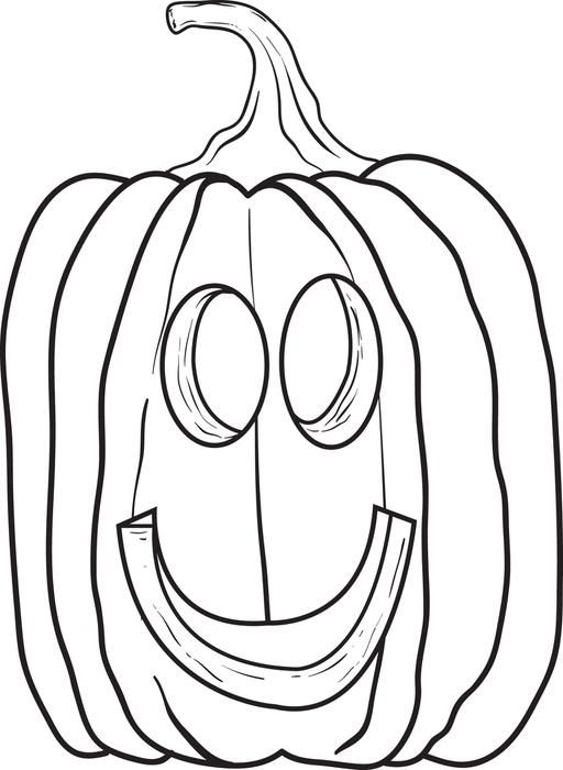 faceless pumpkin coloring pages - photo#28