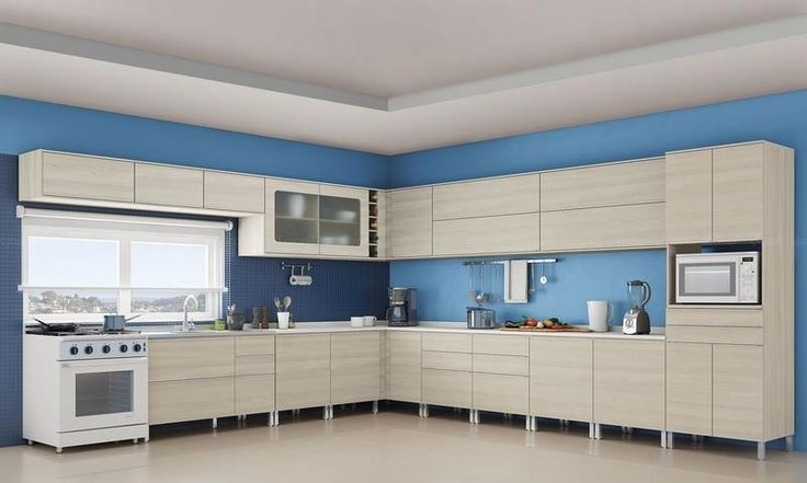 Cozinha Modulada Completa 20 Módulos Versatti Nacre - Kappesberg