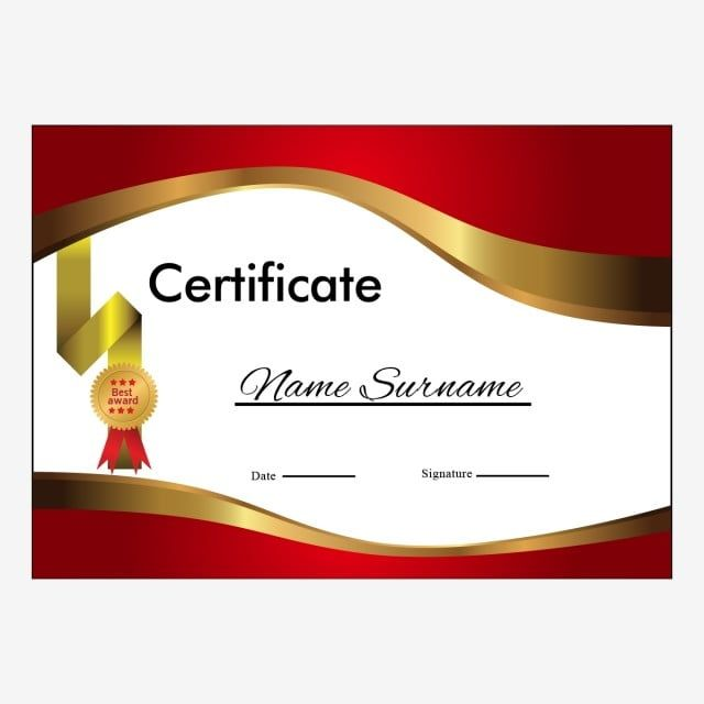 Certificate Layout Version With Luxury Gold Border Certificate Template Diploma Png And Vector With Transparent Background For Free Download Certificate Layout Certificate Design Template Certificate Design