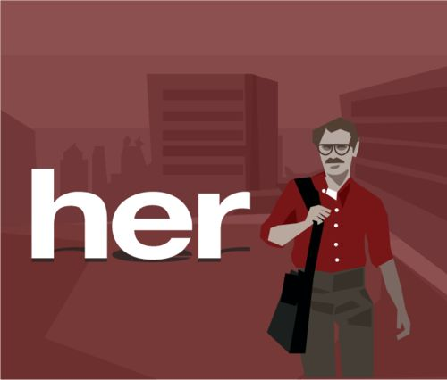 This is the first fruit of my plan to illustrate a few of my favourite movies. #her