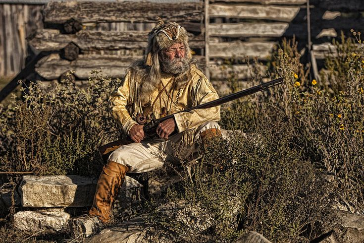 Mountain men art.  Reminds me of what Hugh Glass possibly looked like?