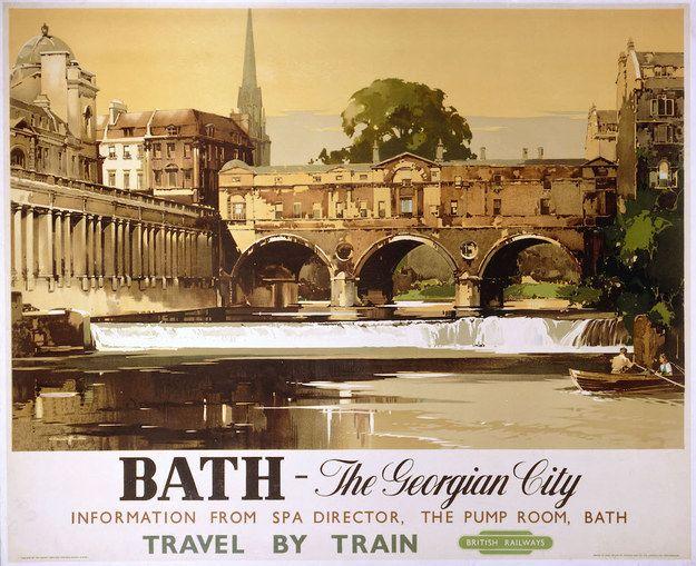 Bath, British Railways, 1950 | 15 Insanely Affordable Vintage Travel Prints