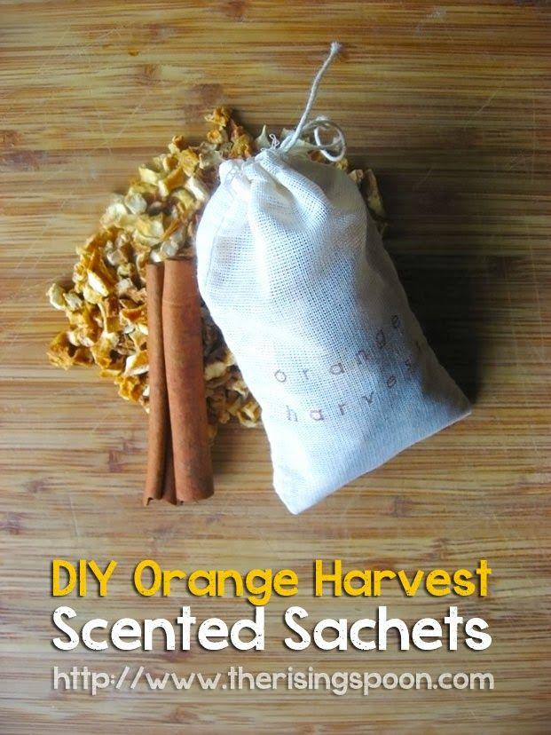 The Rising Spoon: DIY Orange Harvest Scented Muslin Tea Bag Sachets