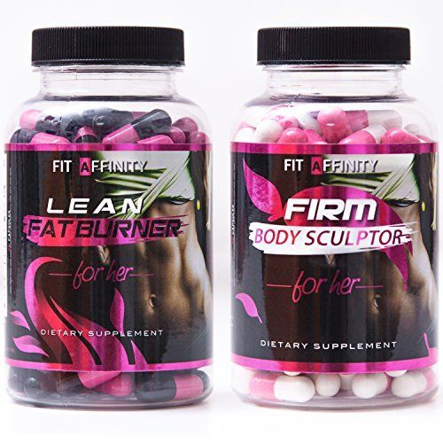 FIT AFFINITY: Lean & Sculpted Bundle - Fat Burner for Women • Best All Natural Weight Loss Pills - Thermogenic Fat Loss Supplement & Appetite Suppressant - 90 Capsules (Each Bottle)