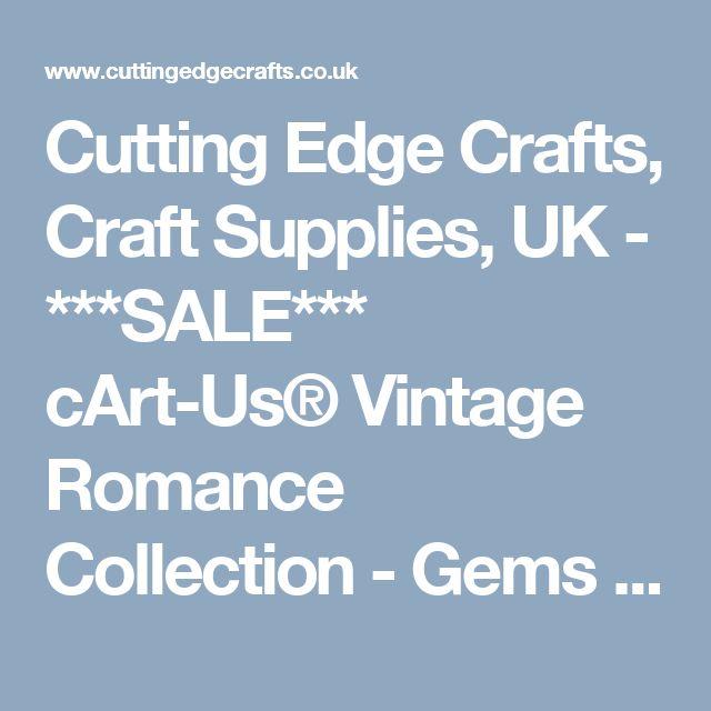 Cutting Edge Crafts, Craft Supplies, UK - ***SALE*** cArt-Us® Vintage Romance Collection - Gems & Brads Bling Collection (99 pcs) ***SALE*** cArt-Us® Vintage Romance Collection - Gems & Brads Bling Collection (99 pcs)
