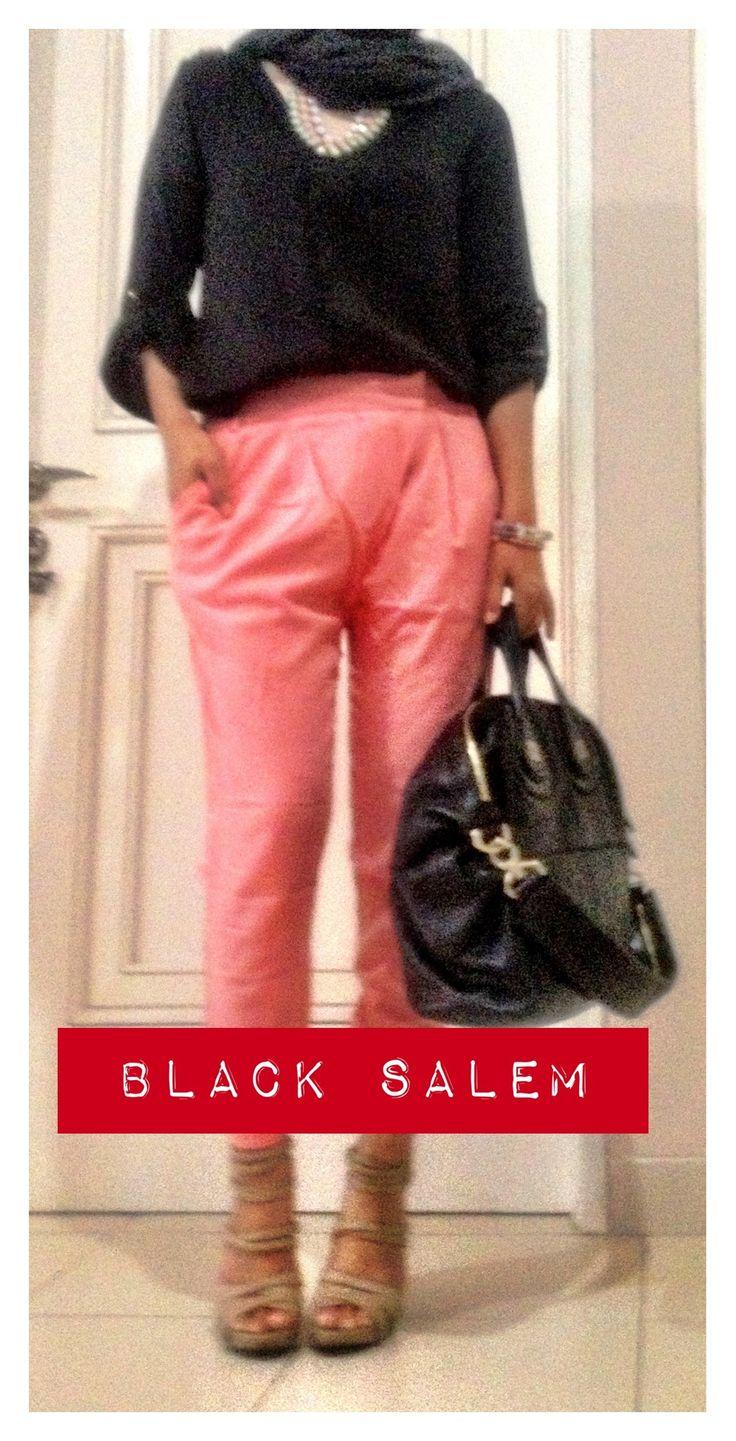 wait.. salem color? err salmon? coral?  #zara #givenchy #nightingale #black
