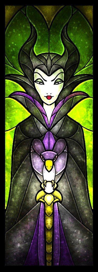 Cross stitch pattern  Disney  Maleficent Stained by XStitchAddict