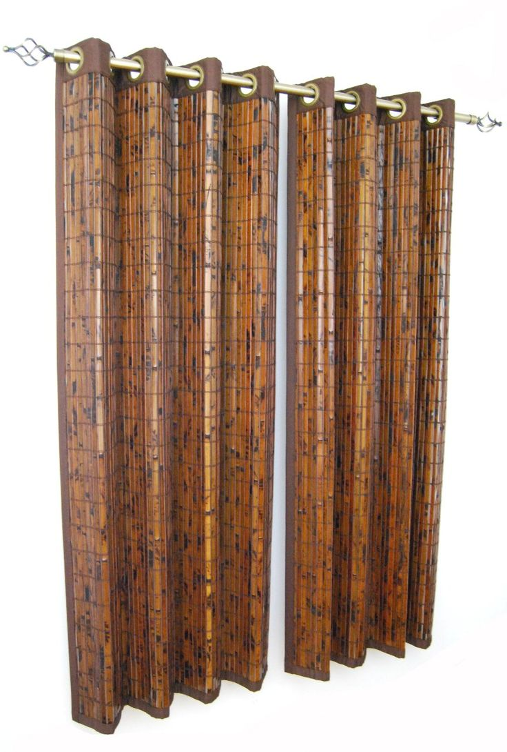 Versailles Home Fashions Bamboo Grommet Panel 63 Inch