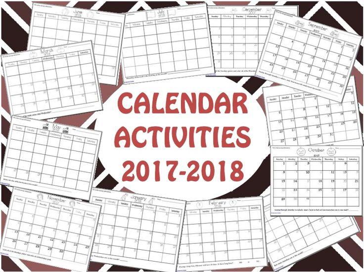Calendar Ideas Ks1 : Best calendar activities ideas on pinterest maths