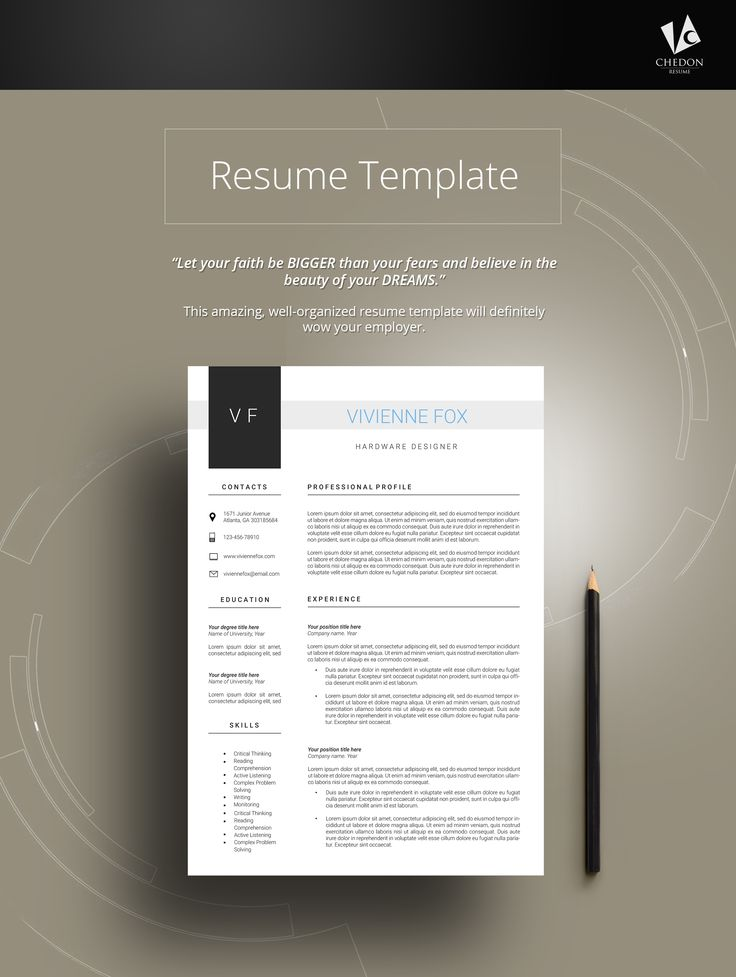 Resume template Cv templates Professional Free cover