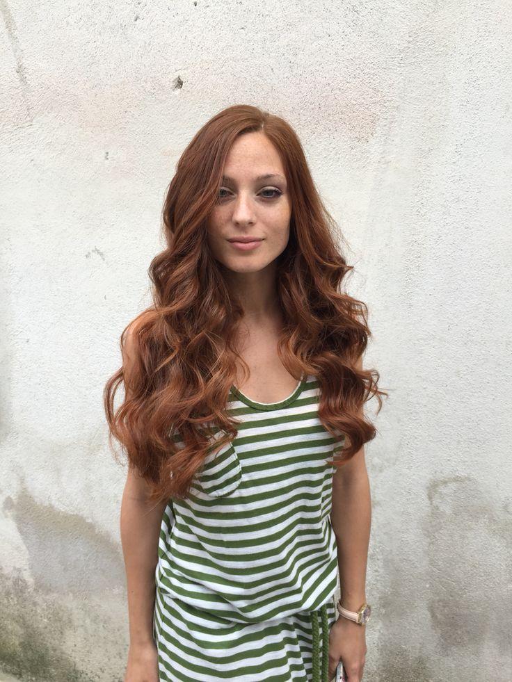 Copper haircolour and best hairwaves.
