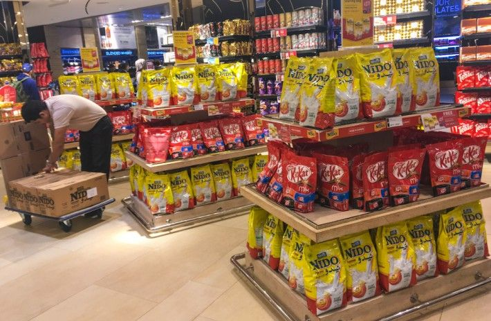 Dubai airport duty free shops sell an INSANE amount of Powder Milk. This is why...