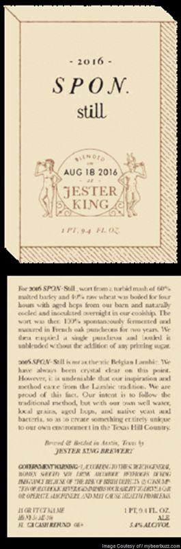 mybeerbuzz.com - Bringing Good Beers & Good People Together...: Jester King Adding 2016 Spon Still Bottles