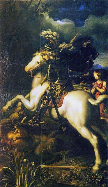 Dosso Dossi - Saint George et le Dragon - Gemäldegalerie Alte Meister, Dresde