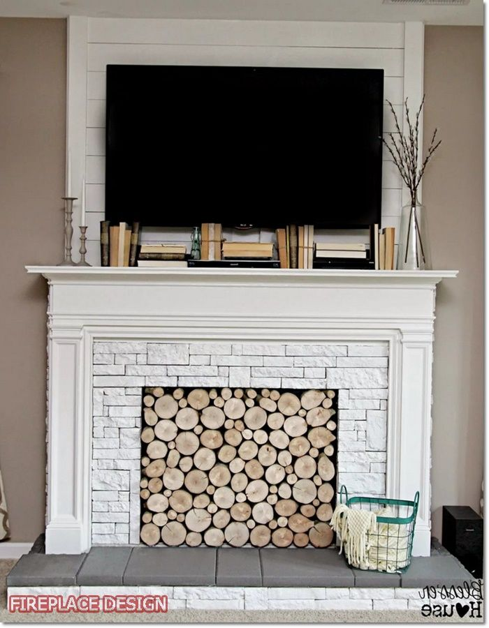 Fireplace Remodel Faux, Can You Put Wood Around A Fireplace