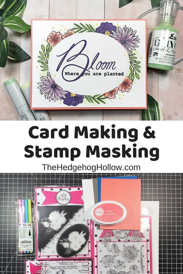 Bloom Where You Are Planted Stamp Masking Card Making Crafts
