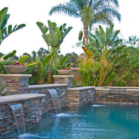 Best 25 pool waterfall ideas on pinterest - Swimming pool designs with waterfalls ...