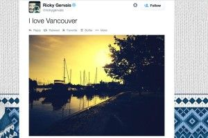 Ricky Gervais really loves Vancouver (PHOTOS)