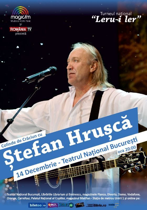 Luni, 14 Decembrie 2015, ora 20:00, Teatrul National, Bucuresti