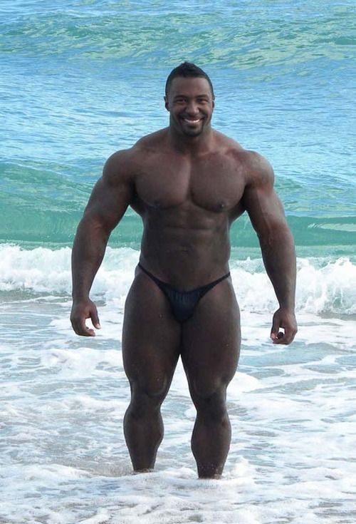 look at them quads.   Black Male Hunks   Pinterest