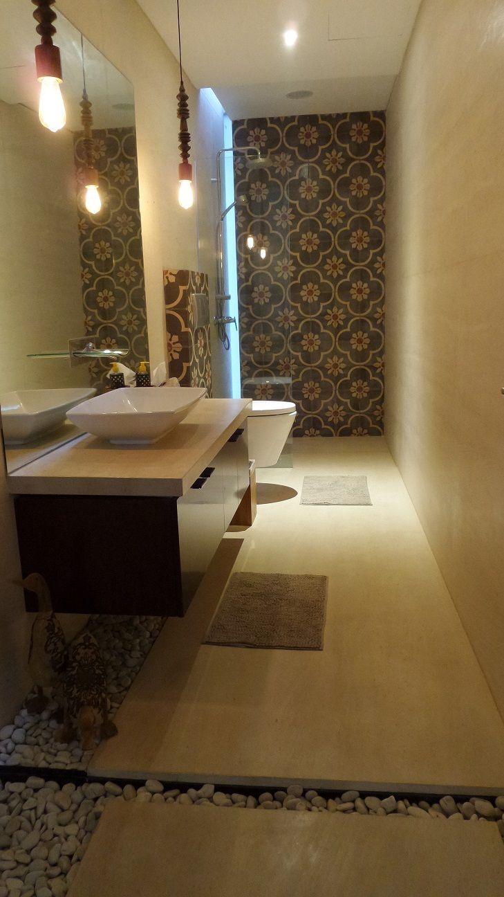 Wooden ducks and beautiful old tiles #modern bathroom design ideas