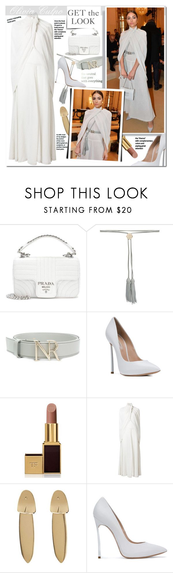 """Olivia Culpo"" by mery90 ❤ liked on Polyvore featuring Prada, Nina Ricci, Casadei, Tom Ford, MANGO, GetTheLook and CelebrityStyle"