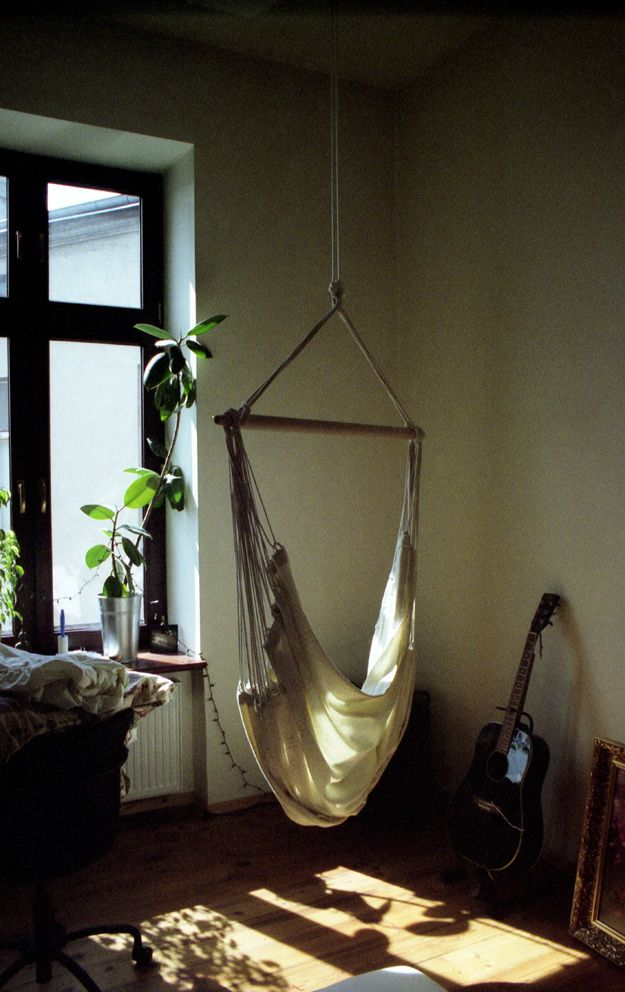 40 best images about indoor swings on pinterest diy for Hanging chair living room