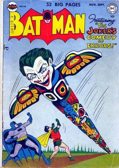 "batmanonthecover: ""BATMAN #66 - August / September 1951 Cover Art: Dick Sprang THE JOKER'S COMEDY OF ERRORS Script: Bill Finger Art: Bob Kane (Batman and Robin figures only); Lew Sayre Schwartz..."