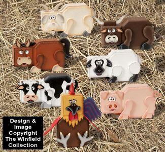 Farm Animal Patio Paver Pals Pattern Set