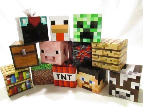 Minecraft Birthday Party Table Blocks Set of 3 You Choose Design | MKC - Children's on ArtFire