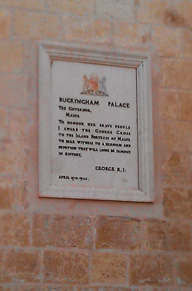 Order of the George Cross to the people of Malta.