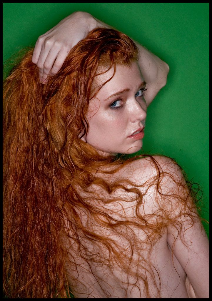 Redhead curls adult