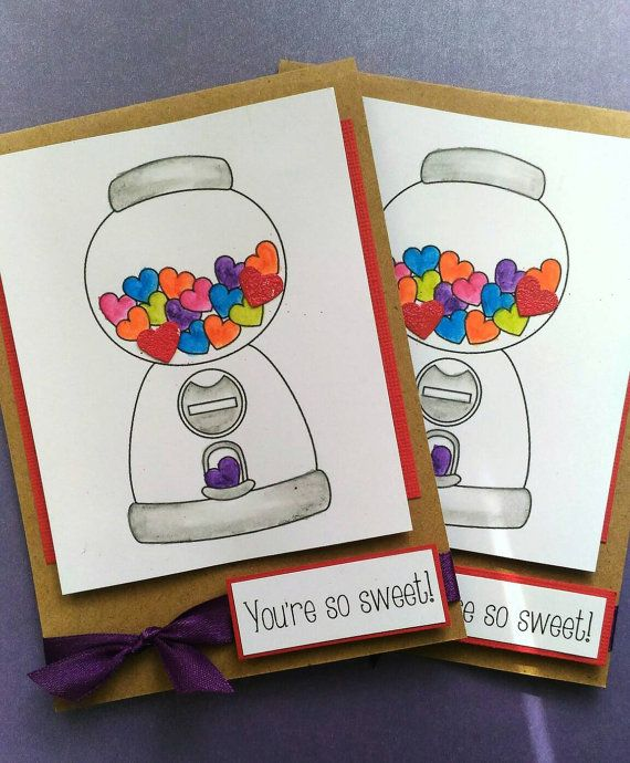 Check out this item in my Etsy shop https://www.etsy.com/au/listing/294517369/gumball-handmade-card-colourful-thank