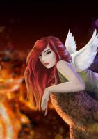 Angel in the city by Nyrine