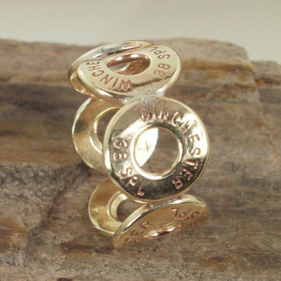 Bullet Ring - Winchester 38 SPL Ring - Size 8