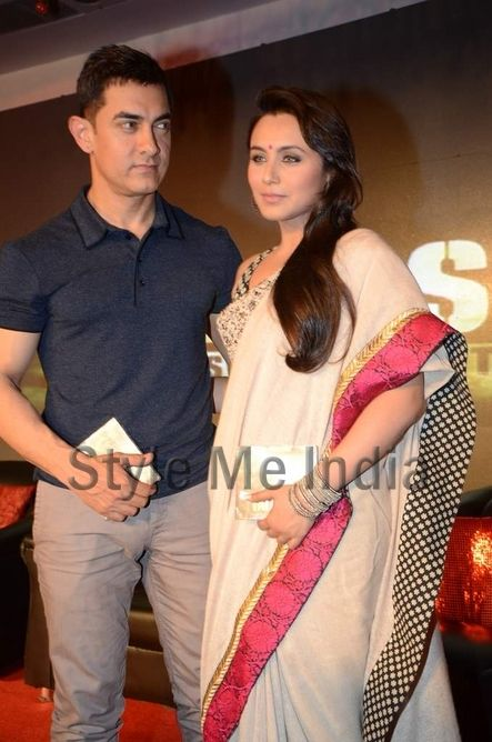 Rani Mukherjee in Sabyasachi #Saree, with Aamir Khan
