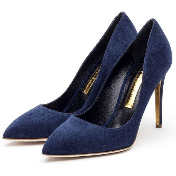 Rupert Sanderson High Heel Pumps (890 CAD) ❤ liked on Polyvore featuring shoes, pumps, heels, footwear, sapatos, navy blue pumps, heels & pumps, navy blue pointed toe pumps, navy shoes and high heel pumps