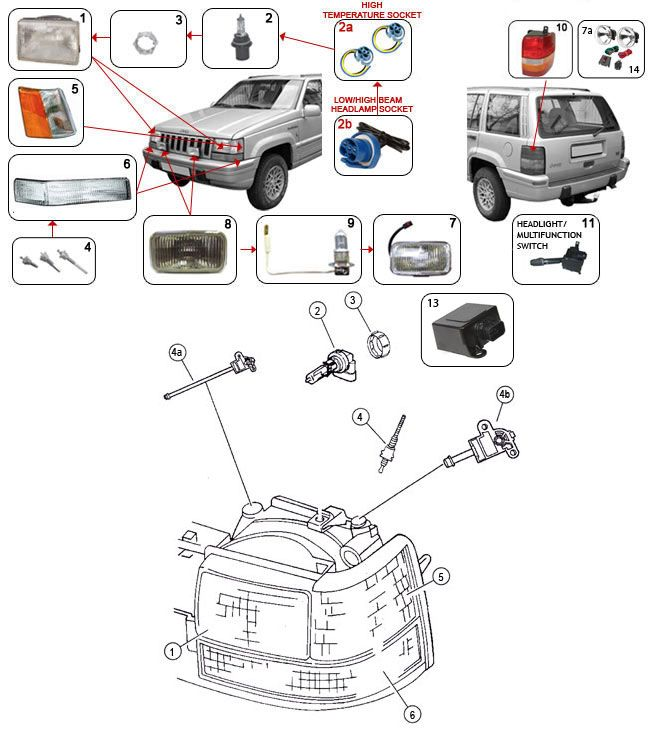 21 best 93 98 grand cherokee zj parts diagrams images on pinterest grand cherokee zj lighting parts more swarovskicordoba Choice Image