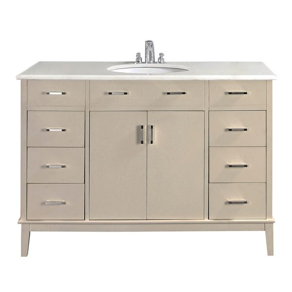 Make Photo Gallery WYNDENHALL Oxford White Bath Vanity with Doors and White Quartz Marble Top Overstock Shopping Great Deals on WyndenHall Bathroom Vanities