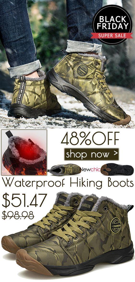 41b0c39a58c Black Friday big sale waterproof hiking boots here at Newchic.com ...