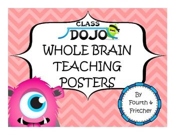 The ultimate blend of classroom management! This pack contains rules and responses posters from Whole Brain Teaching featuring the Class Dojo Monsters.Bright colors and clear text make this set a must-have for Dojo and WBT enthusiasts alike!I have included some alternative rules and responses.