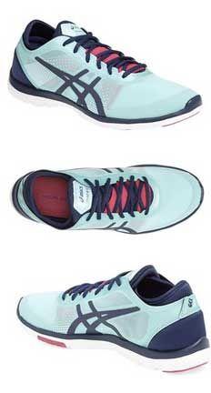Lightweight Asics running shoe in mint