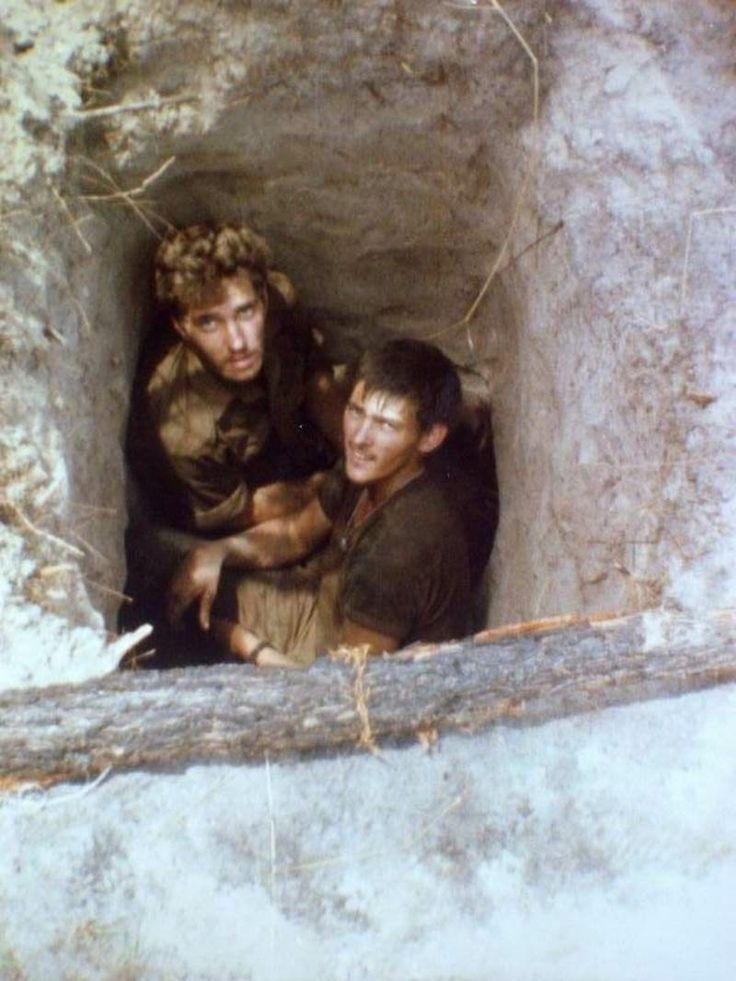 Hiding from the Mig's in a foxhole