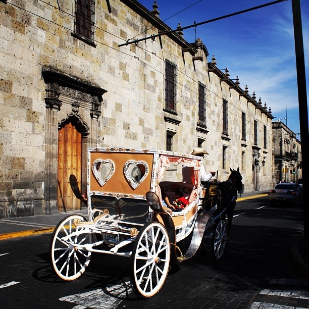 Horse drawn carriage through the streets of Guadalajara was so romantic!! Great way to explore the city!! :)