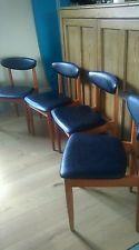 Set Of 4 Vintage Retro Schreiber Dining Chairs 60's 70's  Danish