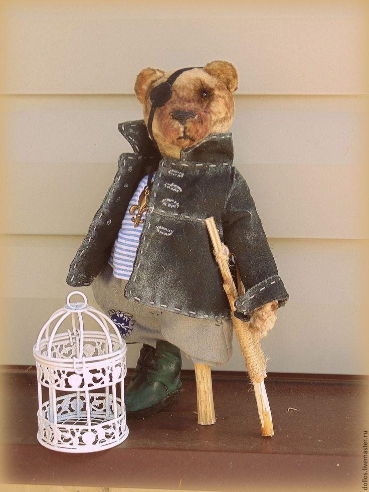 Купить Пират Теодоро - серый, мишка, коллекционный мишка, деревня, мед, деревня…