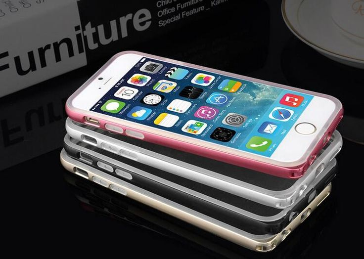 iphone6 mobile phone shell protective sleeve apple 6plus metal frame + TPU silicone soft shell factory wholesale #dhgatePin