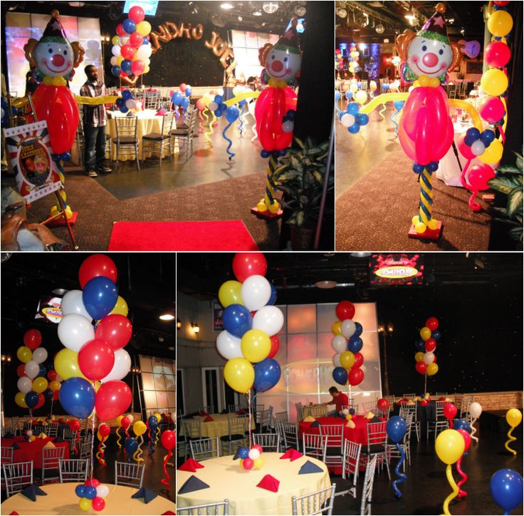 17 best images about vintage circus party on pinterest for Clown dekoration